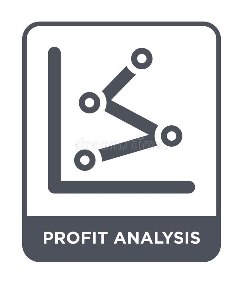icono del análisis del beneficio en estilo de moda del diseño icono del análisis del beneficio aislado en el fondo blanco icono d ilustración del vector