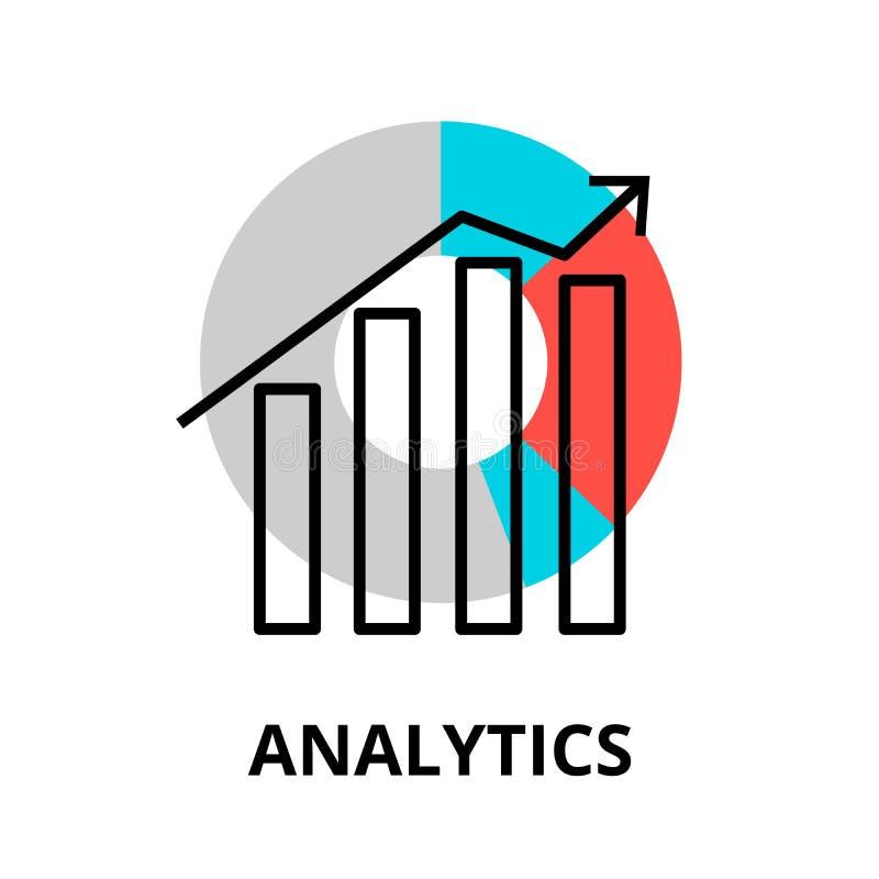 Icono del Analytics, para el gráfico y el diseño web stock de ilustración