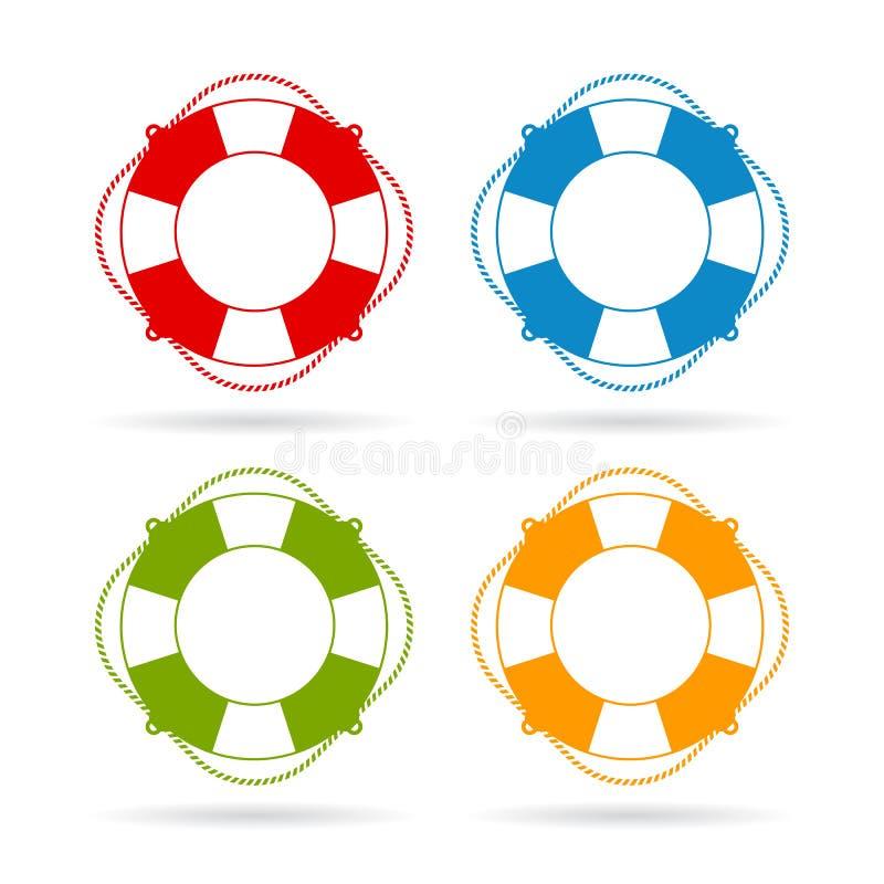 Icono del anillo del vector del salvador stock de ilustración