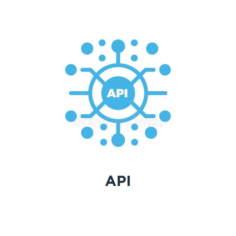 Icono del Api desig del símbolo del concepto del interfaz de programación de uso libre illustration