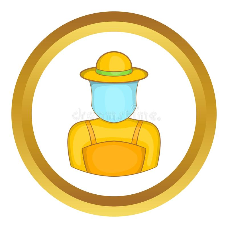 Icono del apicultor ilustración del vector