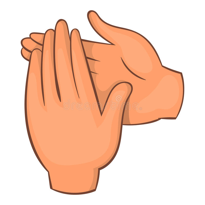Icono del aplauso, estilo de la historieta ilustración del vector