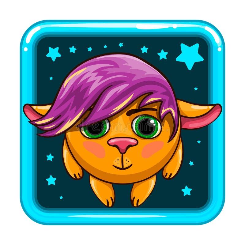 Icono del App con el animal fantástico libre illustration