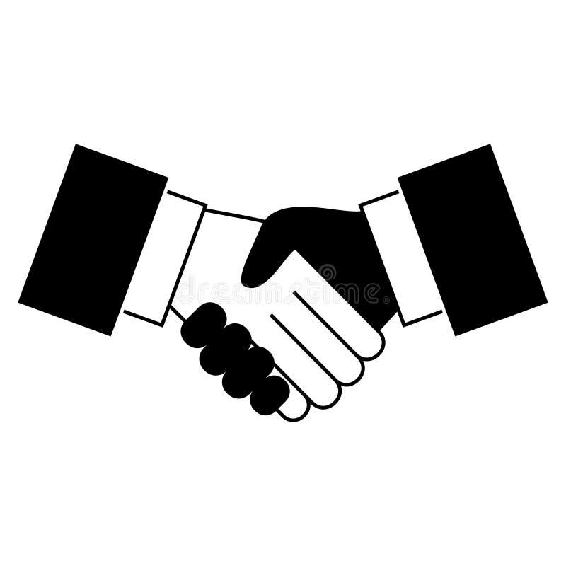 Icono del apretón de manos stock de ilustración