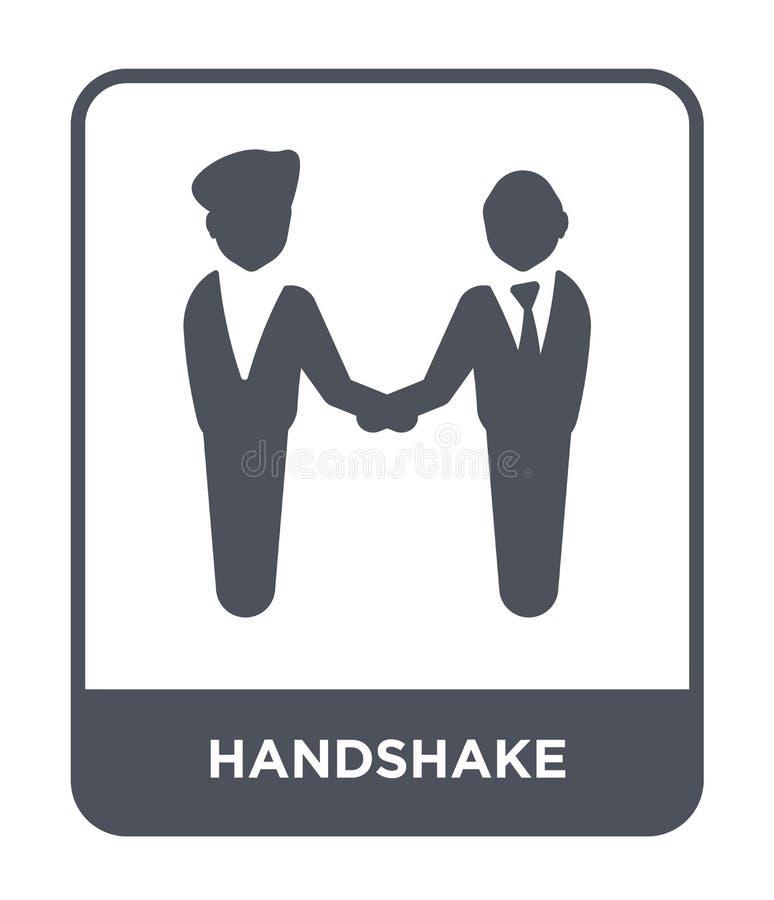 icono del apretón de manos en estilo de moda del diseño Icono del apretón de manos aislado en el fondo blanco plano simple y mode libre illustration