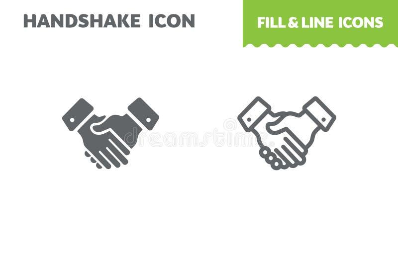 Icono del apretón de manos del negocio, vector ilustración del vector