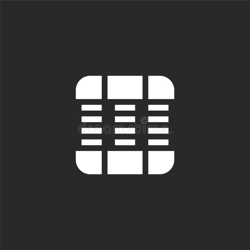 Icono del apret?n de la mano Icono llenado del apretón de la mano para el diseño y el móvil, desarrollo de la página web del app  stock de ilustración