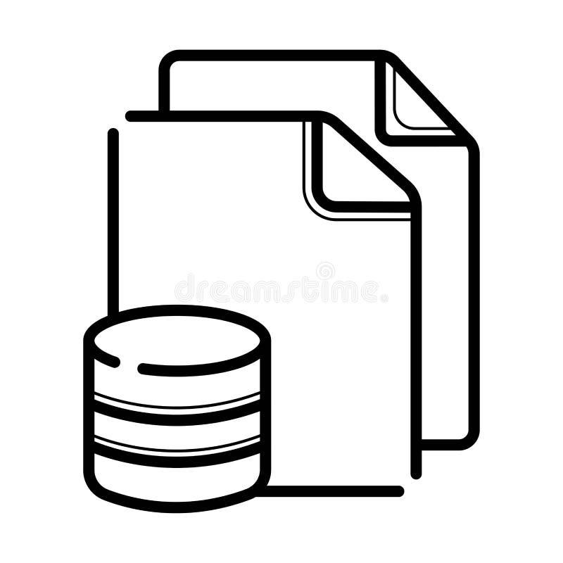 Icono del archivo de base de datos del icono solo stock de ilustración