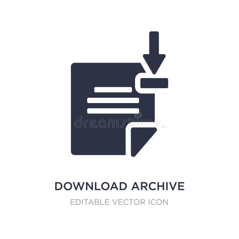 icono del archivo de la transferencia directa en el fondo blanco Ejemplo simple del elemento del concepto de UI ilustración del vector