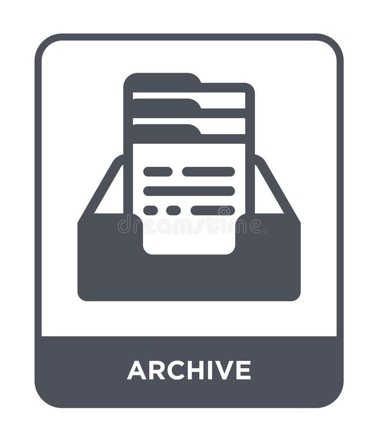 icono del archivo en estilo de moda del diseño Icono del archivo aislado en el fondo blanco símbolo plano simple y moderno del ic ilustración del vector