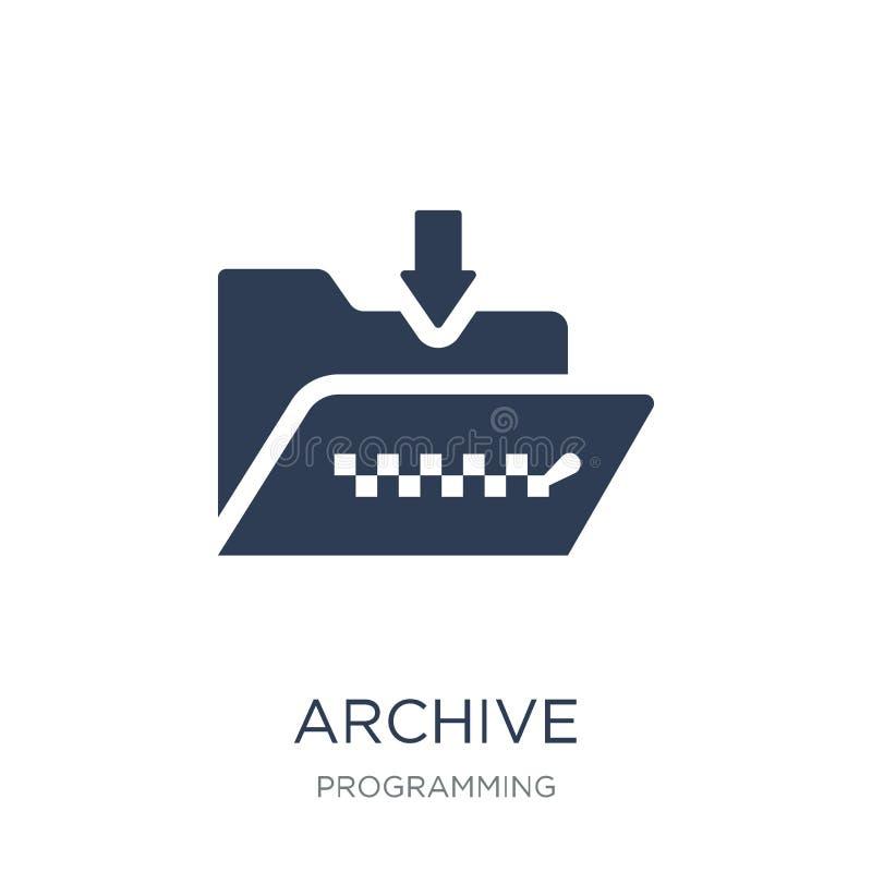Icono del archivo Icono plano de moda del archivo del vector en el backgroun blanco ilustración del vector