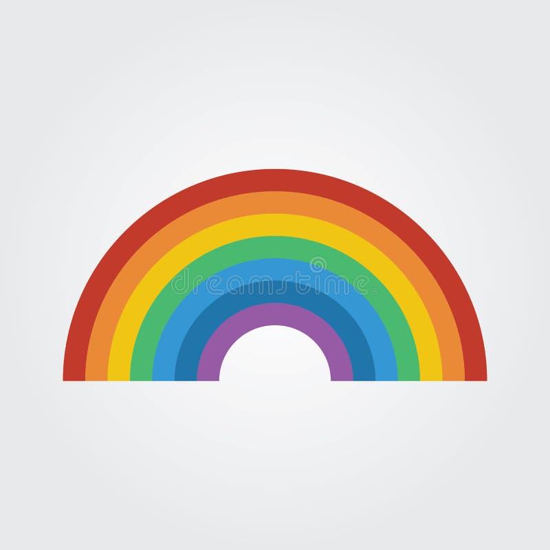 Icono del arco iris ilustración del vector