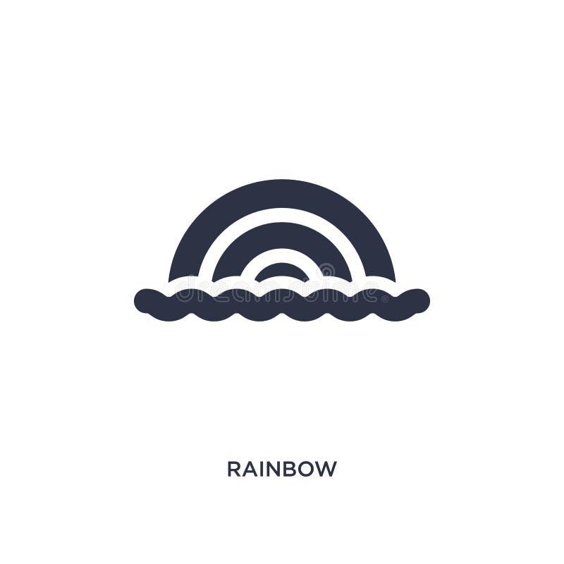 Icono del arco iris en el fondo blanco Ejemplo simple del elemento del concepto del brazilia libre illustration