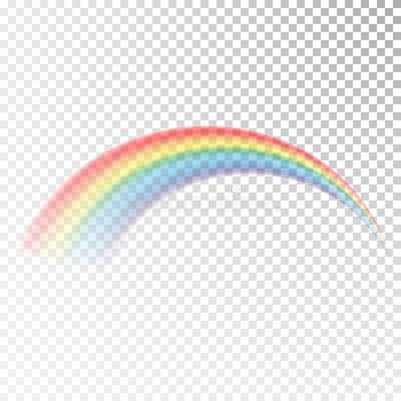 Icono del arco iris Luz colorida y elemento brillante del diseño para decorativo Imagen abstracta del arco iris Ejemplo del vecto libre illustration