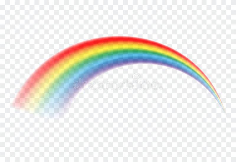 Icono del arco iris Luz colorida y elemento brillante del dise?o para decorativo Imagen abstracta del arco iris Ejemplo del vecto ilustración del vector