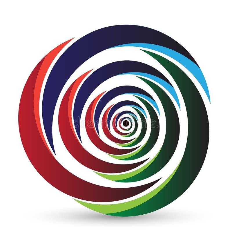 Icono del arco iris y diseño de la insignia libre illustration