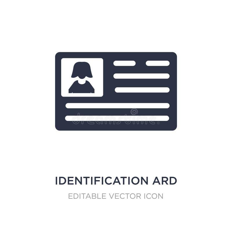 icono del ard de la identificación en el fondo blanco Ejemplo simple del elemento del concepto de la gente ilustración del vector