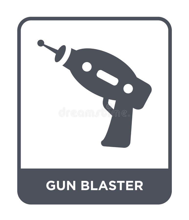 icono del arenador del arma en estilo de moda del diseño icono del arenador del arma aislado en el fondo blanco icono del vector  ilustración del vector
