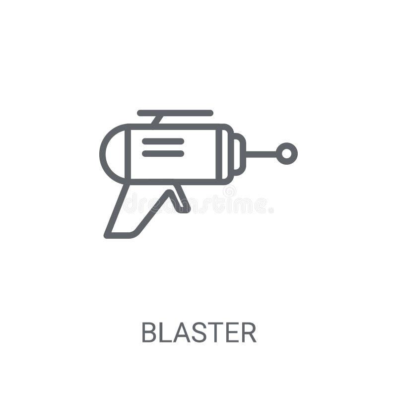 Icono del arenador Concepto de moda del logotipo del arenador en el fondo blanco franco ilustración del vector