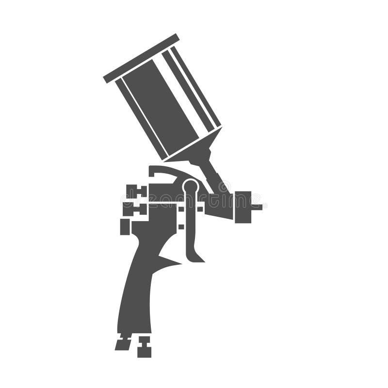Icono del arma de espray stock de ilustración