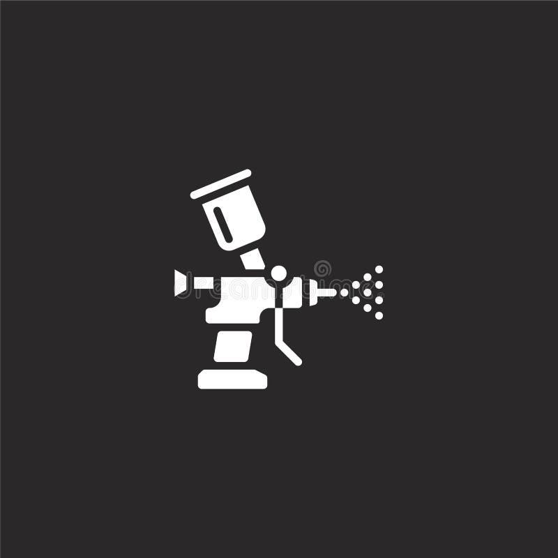 Icono del arma de espray Icono llenado del arma de espray para el diseño y el móvil, desarrollo de la página web del app icono de ilustración del vector