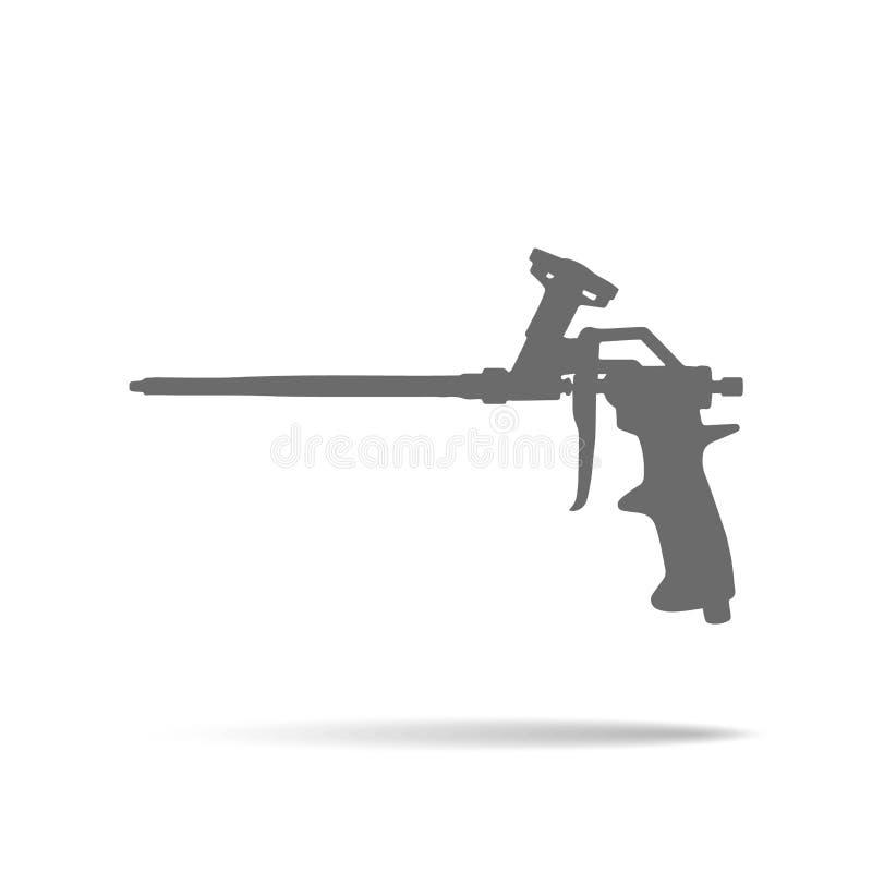 Icono del arma de la espuma stock de ilustración