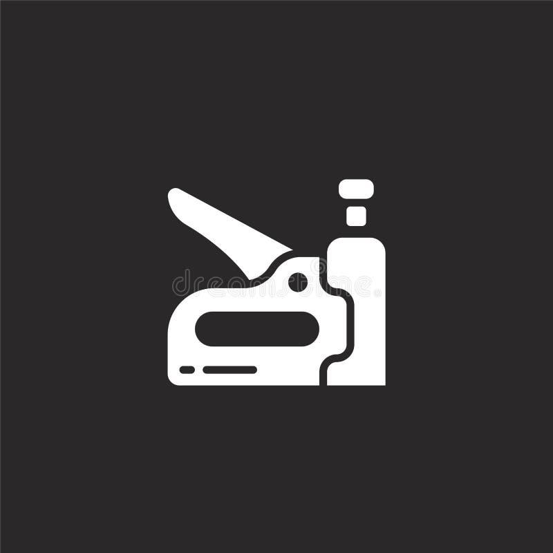 Icono del arma de la grapa Icono llenado del arma de la grapa para el diseño y el móvil, desarrollo de la página web del app icon libre illustration