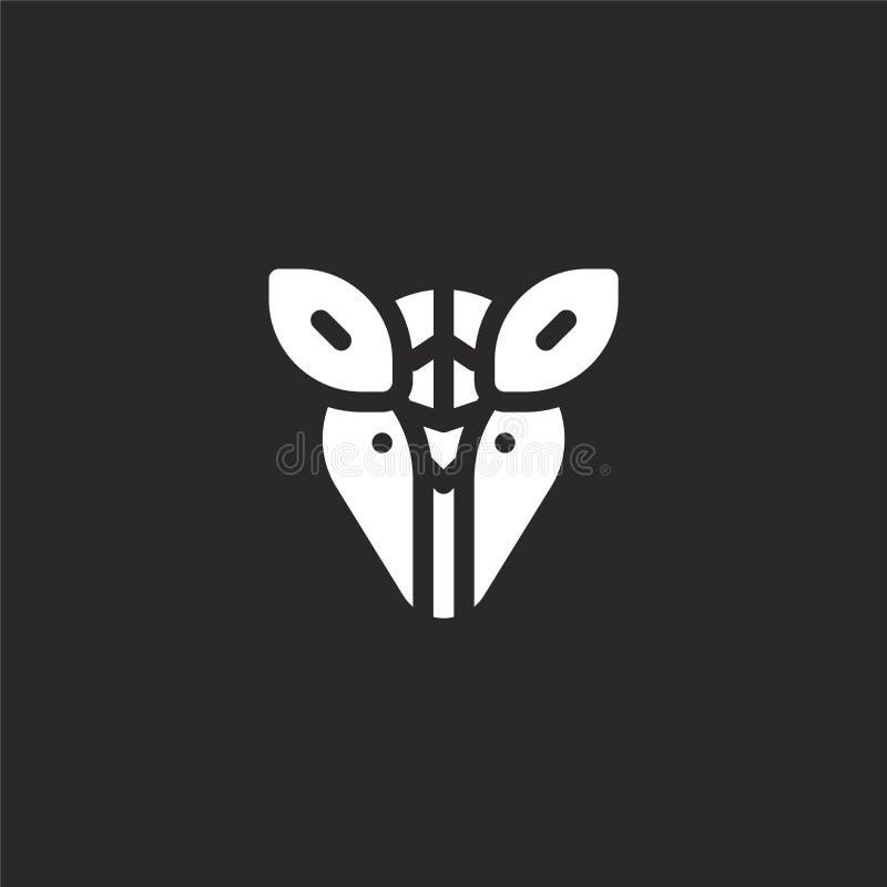 Icono del armadillo Icono llenado del armadillo para el diseño y el móvil, desarrollo de la página web del app icono del armadill libre illustration