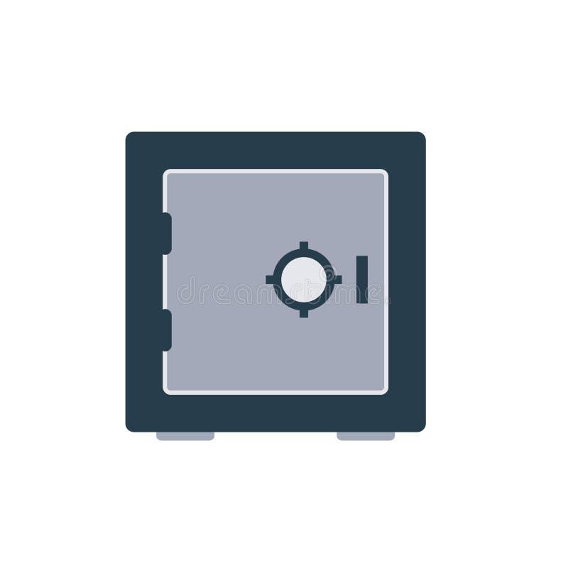 Icono del armario de la cámara acorazada de banco ilustración del vector