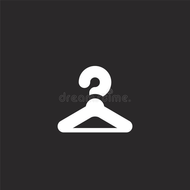 Icono del armario Icono llenado del armario para el diseño y el móvil, desarrollo de la página web del app icono del armario de l ilustración del vector