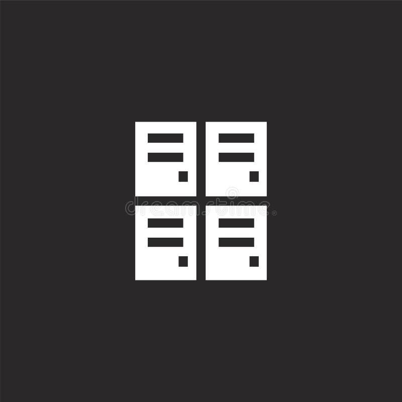 Icono del armario Icono llenado del armario para el diseño y el móvil, desarrollo de la página web del app icono del armario de l stock de ilustración
