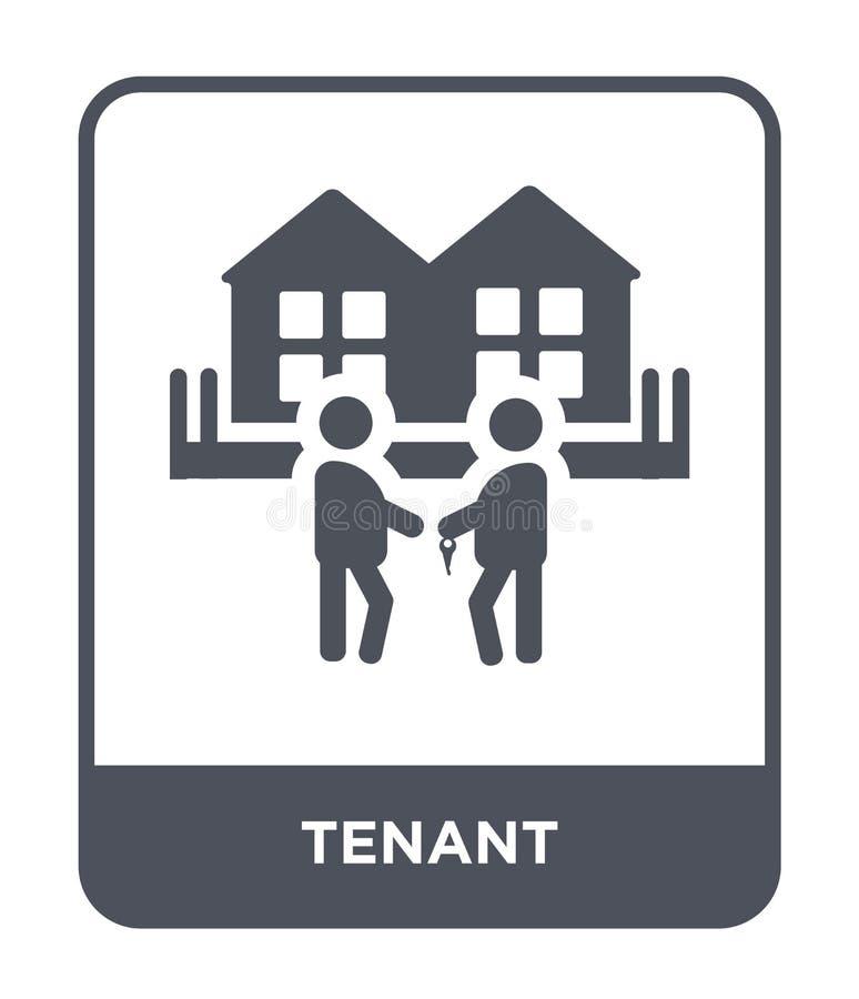 icono del arrendatario en estilo de moda del diseño icono del arrendatario aislado en el fondo blanco símbolo plano simple y mode libre illustration