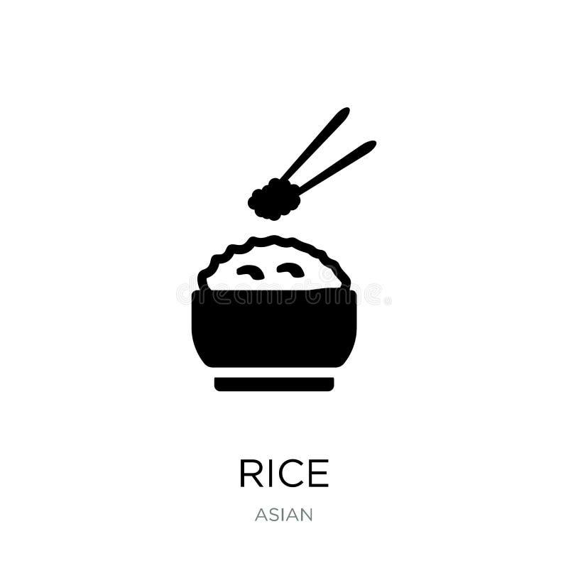 icono del arroz en estilo de moda del diseño icono del arroz aislado en el fondo blanco símbolo plano simple y moderno del icono  libre illustration