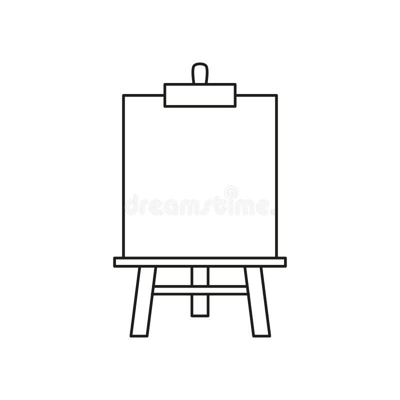 Icono del arte del caballete ilustración del vector