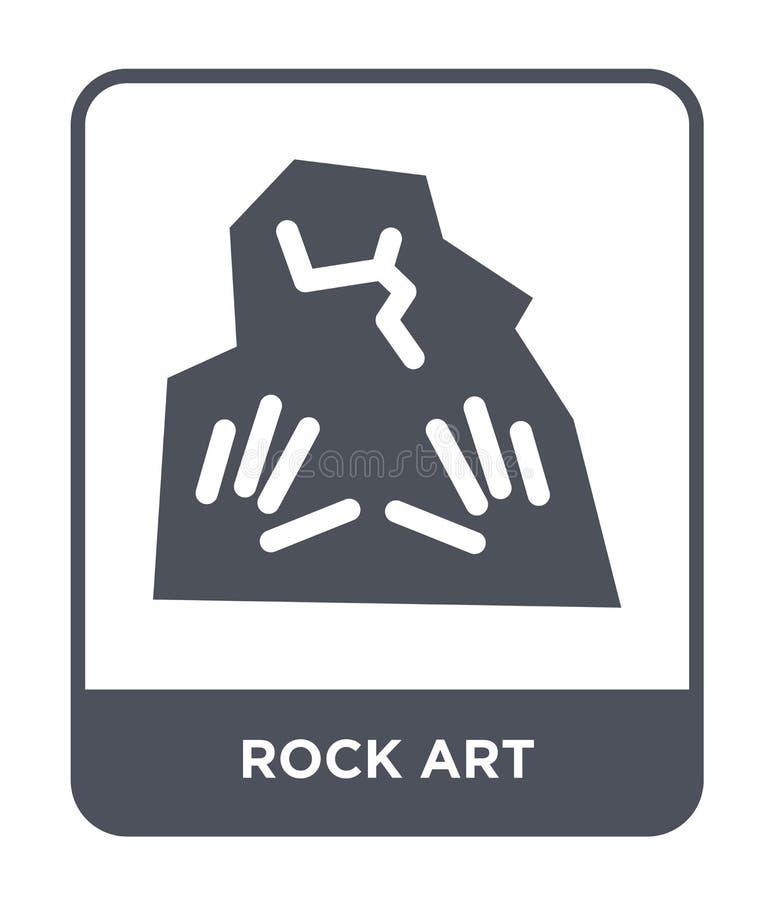 icono del arte de la roca en estilo de moda del diseño icono del arte de la roca aislado en el fondo blanco plano simple y modern libre illustration