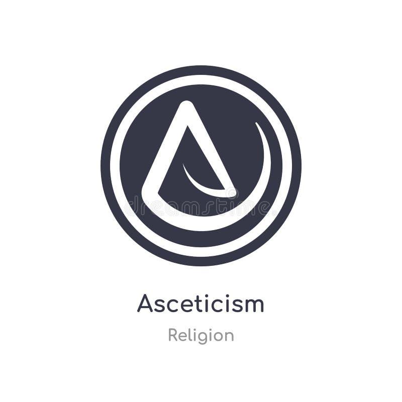 icono del ascetismo ejemplo aislado del vector del icono del ascetismo de la colección de la religión editable cante el s?mbolo p libre illustration