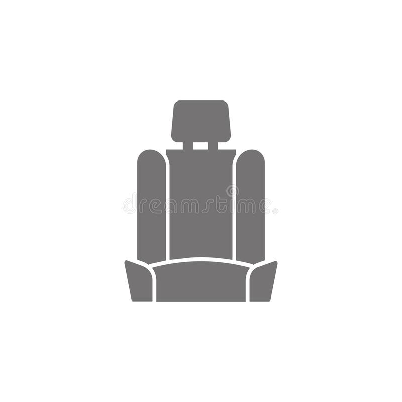 Icono del asiento de carro stock de ilustración