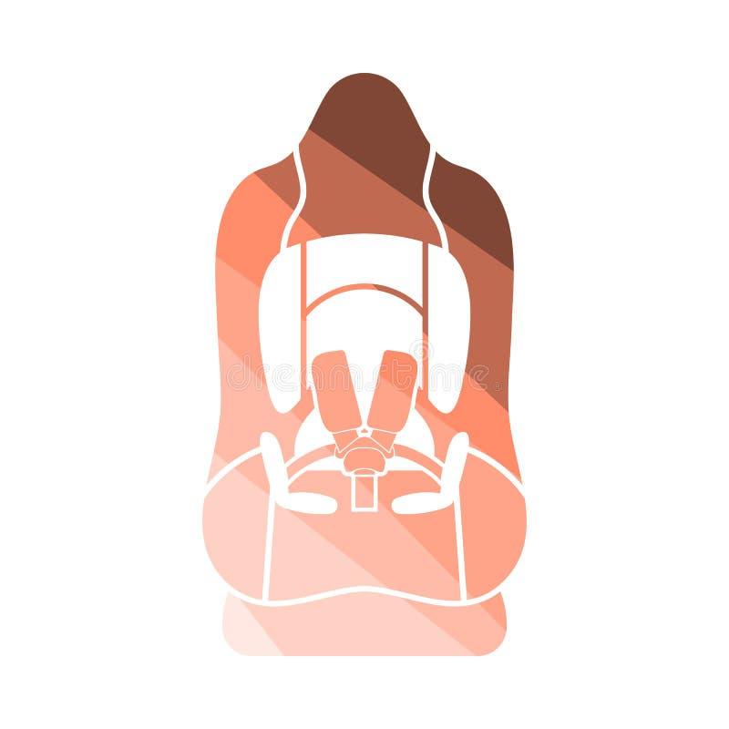Icono del asiento de carro del beb? stock de ilustración