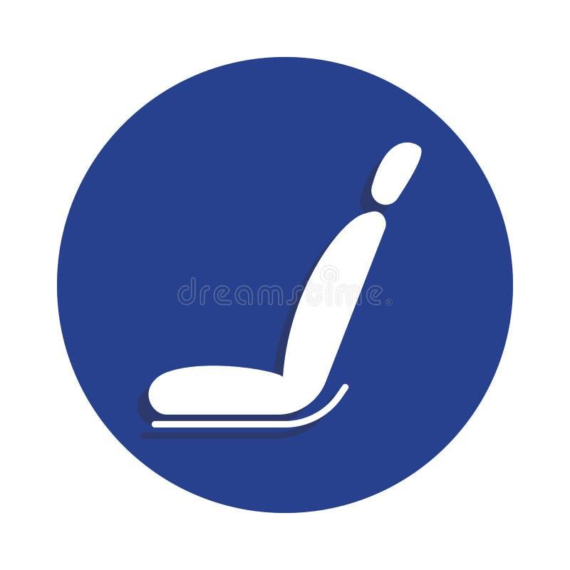 icono del asiento de carro en estilo de la insignia Uno del icono de la colección de la reparación del coche se puede utilizar pa stock de ilustración