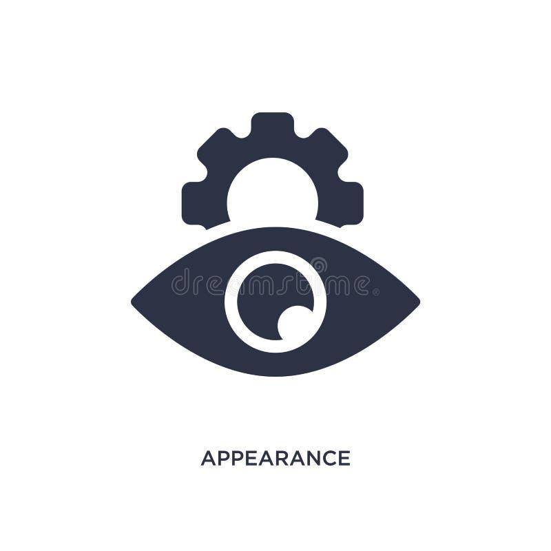 icono del aspecto en el fondo blanco Ejemplo simple del elemento del concepto de los recursos humanos libre illustration