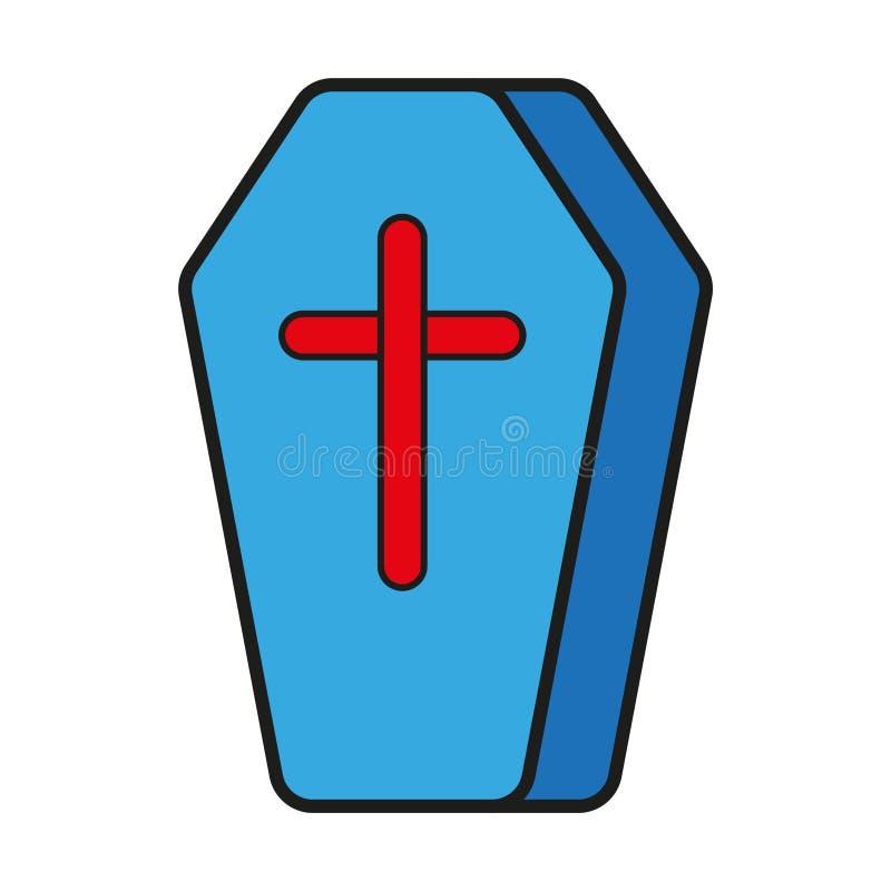 Icono del ataúd del cajón ilustración del vector