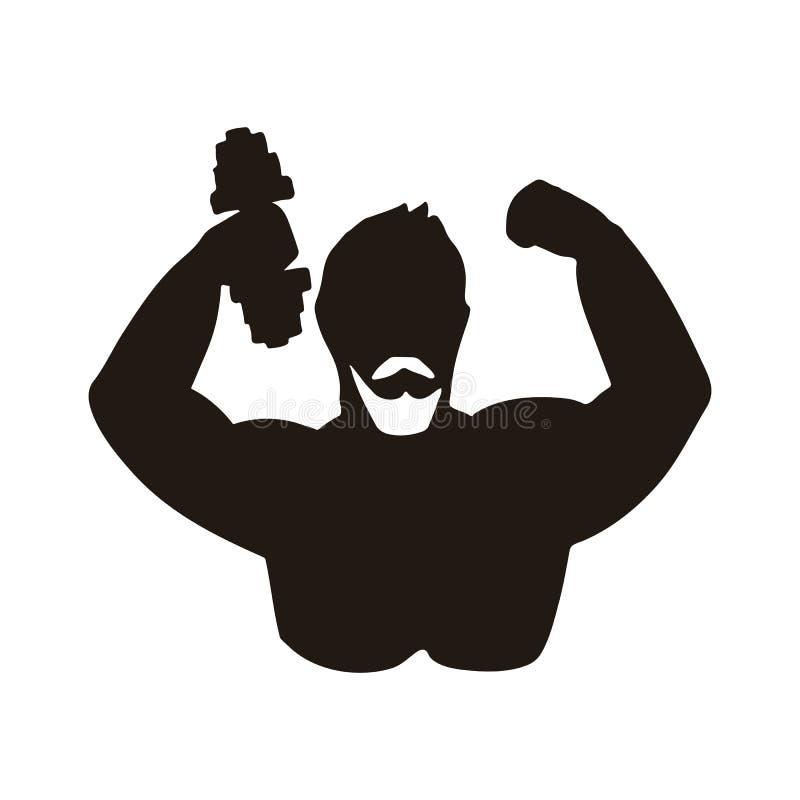 Icono del atleta stock de ilustración