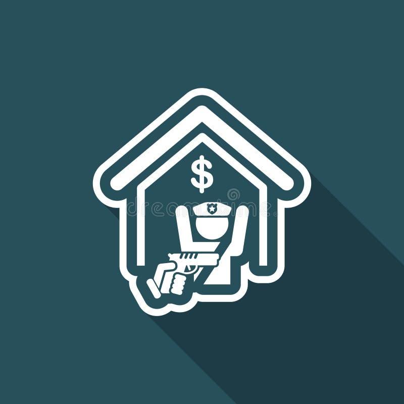 Icono del atraco ilustración del vector