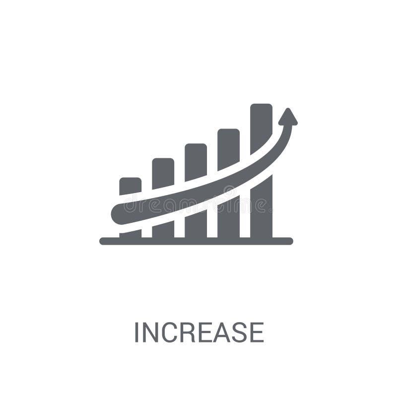 Icono del aumento Concepto de moda del logotipo del aumento en el fondo blanco libre illustration