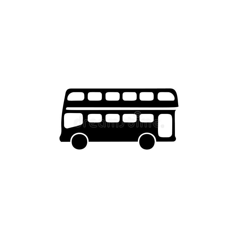 Icono del autobús del autobús de dos pisos libre illustration