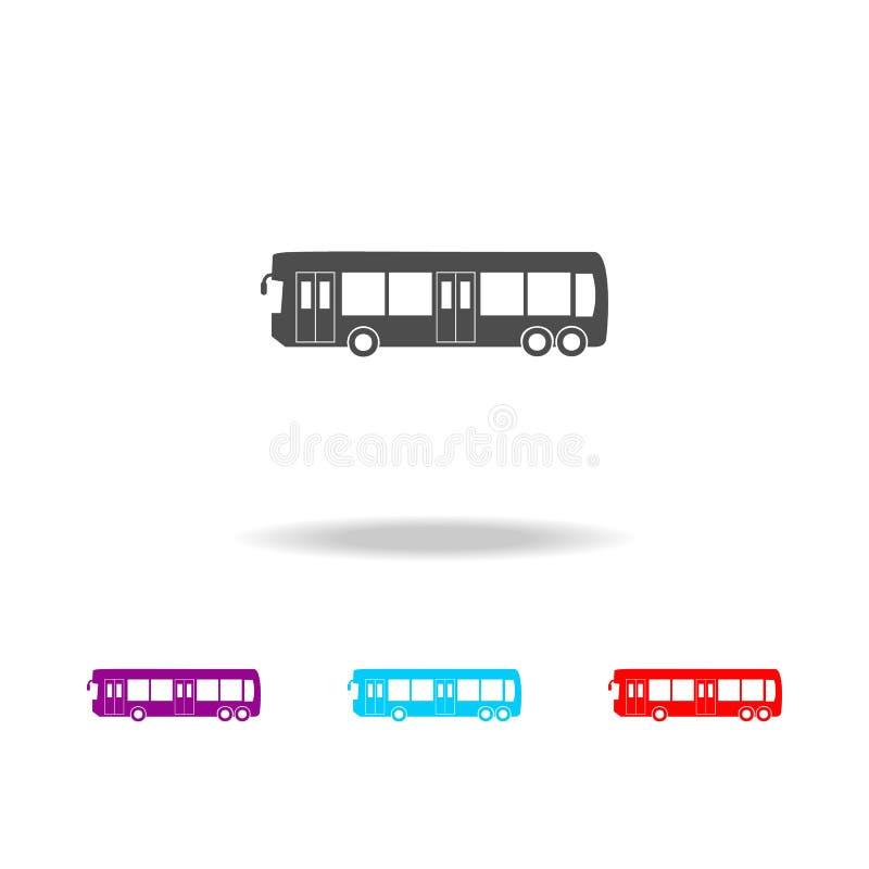 icono del autobús de la ciudad Elementos de coches en iconos coloreados multi Icono superior del diseño gráfico de la calidad Ico ilustración del vector