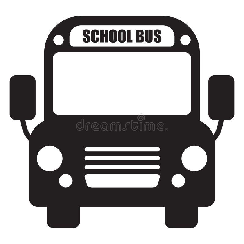 Icono del autobús escolar ilustración del vector