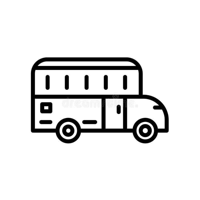 Icono del autobús escolar aislado en el fondo blanco libre illustration