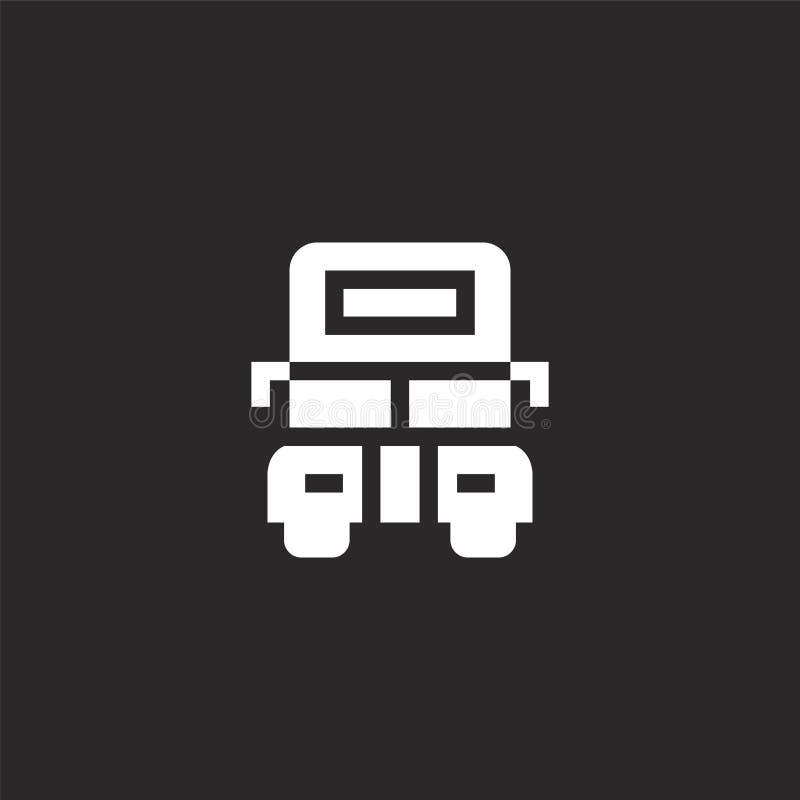 Icono del autob?s del autob?s de dos pisos Icono llenado del autobús del autobús de dos pisos para el diseño y el móvil, desarrol ilustración del vector