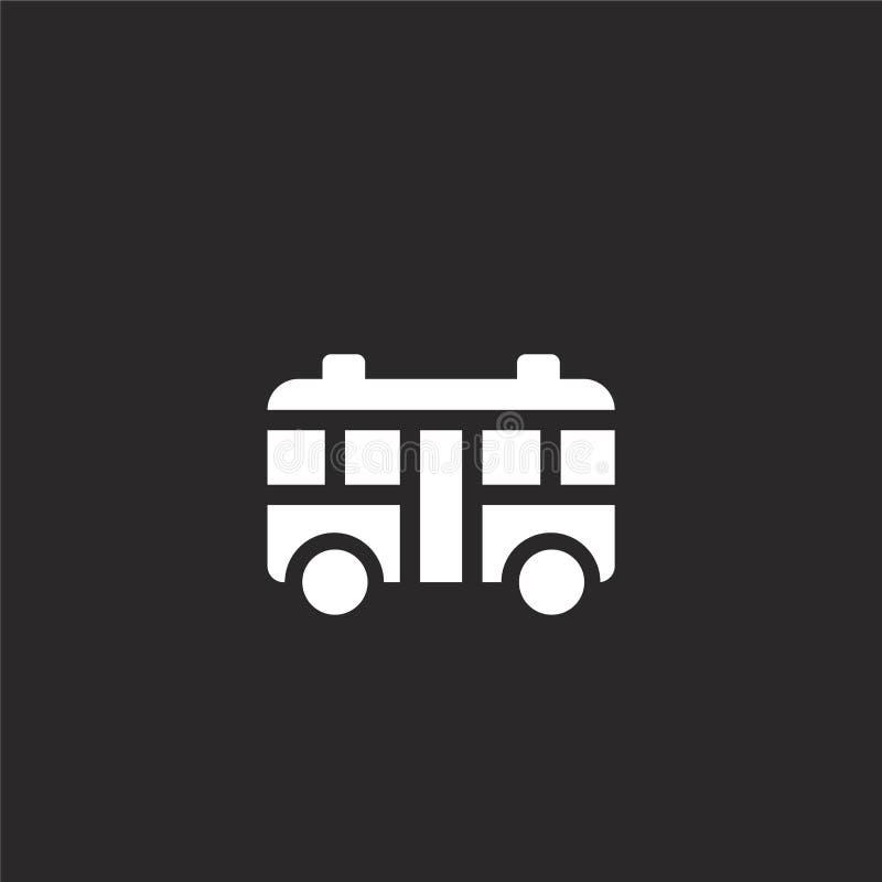Icono del autob?s Icono llenado del autobús para el diseño y el móvil, desarrollo de la página web del app icono del autobús de l stock de ilustración